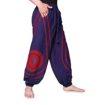 OM Unisex Psy Baggy Pants Hippie Hose Goa Cotton Dance Pants – Bild 20