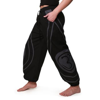 OM Unisex Psy Baggy Pants Hippie Hose Goa Cotton Dance Pants – Bild 5