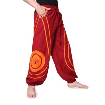 OM Unisex Psy Baggy Pants Hippie Hose Goa Cotton Dance Pants – Bild 16