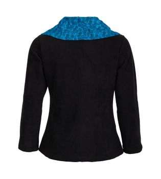 Fleece Jacket with Colored Collar Goa Psy Hippie Boho – Bild 6