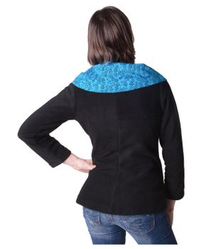 Fleece Jacket with Colored Collar Goa Psy Hippie Boho – Bild 12