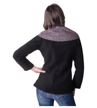 Fleece Jacket with Colored Collar Goa Psy Hippie Boho – Bild 10