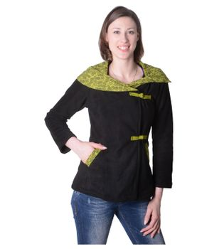Fleece Jacket with Colored Collar Goa Psy Hippie Boho – Bild 13