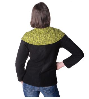 Fleece Jacket with Colored Collar Goa Psy Hippie Boho – Bild 14