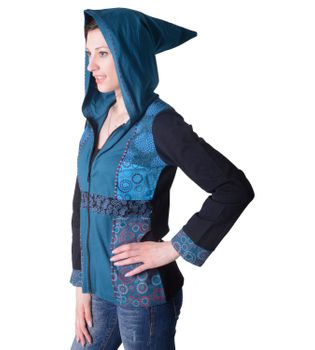 Funky Women's Casual Jacket made from Cotton with Elfin Hood – Bild 4
