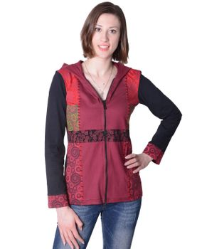 Funky Women's Casual Jacket made from Cotton with Elfin Hood – Bild 5