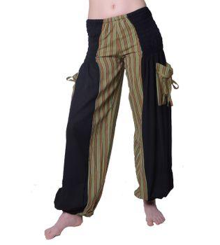 Hippie Goa Damenhose mit gestreiftem Muster - Freizeithose, Sommerhose – Bild 1