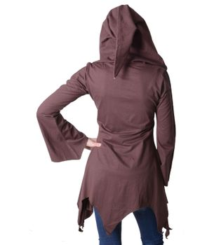 Cotton sweat jacket in a fancy design with a pointed hood - Women jacket to coat – Bild 7