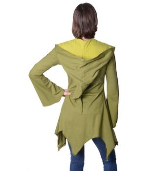 Cotton sweat jacket in a fancy design with a pointed hood - Women jacket to coat – Bild 13