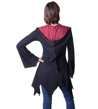 Cotton sweat jacket in a fancy design with a pointed hood - Women jacket to coat – Bild 10