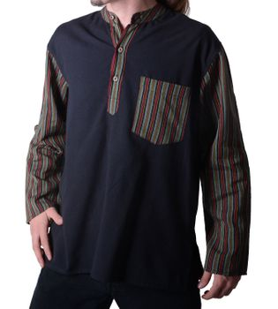 Mens Fisherman Shirt Baja Nepal – Bild 1