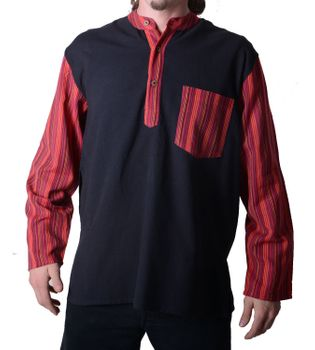 Mens Fisherman Shirt Baja Nepal – Bild 3