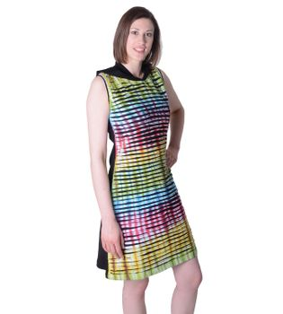 Hippie Minidress Cutwork Rainbow Design – Bild 2