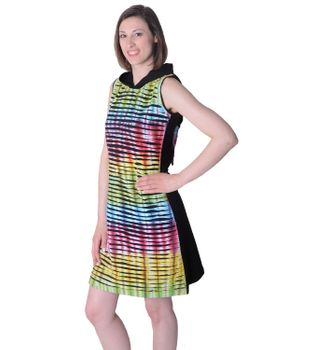 Hippie Minidress Cutwork Rainbow Design – Bild 3