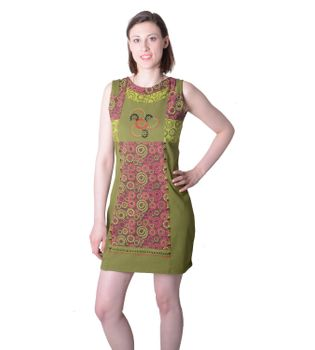 Colorful Hippie Minidress Summer Stylish Flower-Design