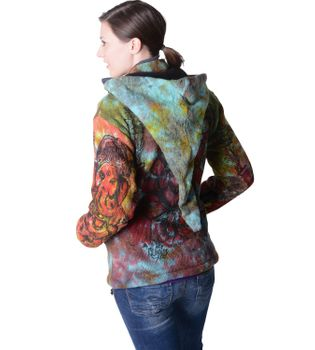 Colorful Women's Knit Jacket Ganesha with Detachable Elfin Hood – Bild 2