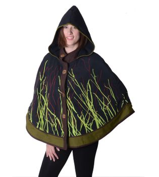 Hippie Cape Poncho Womens with Hood - Sleeveless Cape – Bild 5