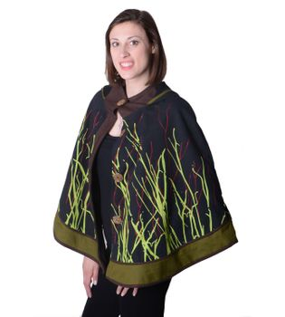 Hippie Cape Poncho Womens with Hood - Sleeveless Cape – Bild 6