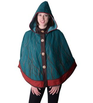 Hippie Cape Poncho Womens with Hood - Sleeveless Cape – Bild 8