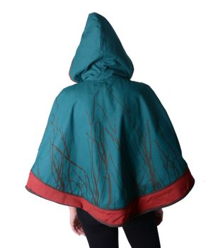 Hippie Cape Poncho Womens with Hood - Sleeveless Cape – Bild 10