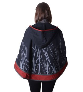 Hippie Cape Poncho Womens with Hood - Sleeveless Cape – Bild 3