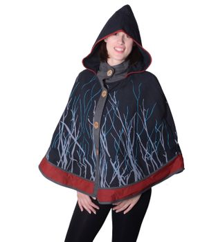 Hippie Cape Poncho Womens with Hood - Sleeveless Cape – Bild 2