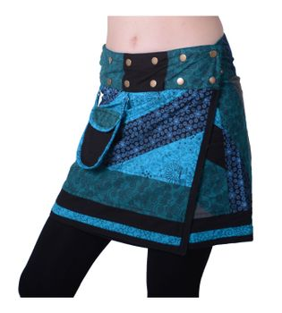 Beautiful Summer Wrap Skirt with Pocket Miniskirt Hippie Goa Skirt – Bild 6