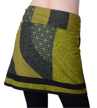 Beautiful Summer Wrap Skirt with Pocket Miniskirt Hippie Goa Skirt – Bild 8