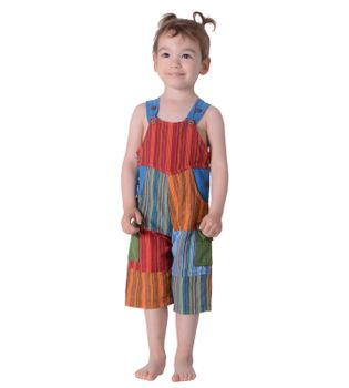 Colorful Om Patchwork Kids Dungarees Aladdin Pants Harem Pants Hippie Overall – Bild 3