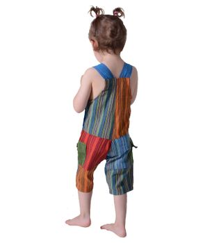 Colorful Om Patchwork Kids Dungarees Aladdin Pants Harem Pants Hippie Overall – Bild 5