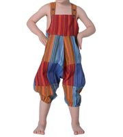 Colorful Om Patchwork Kids Dungarees Aladdin Pants Harem Pants Hippie Overall