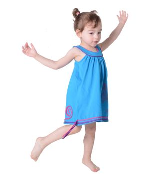 Summer Kids' Patchwork Dress Embroidered – Bild 2