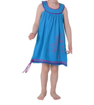 Summer Kids' Patchwork Dress Embroidered