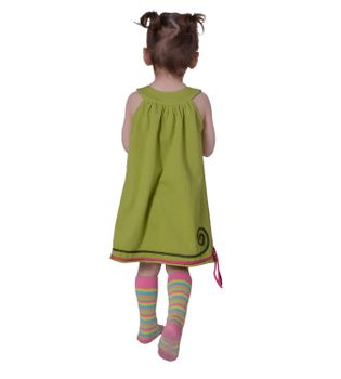Luftiges Sommerkinderkleid Elfenmotiv mit aufwendiger Stickborte Hippie – Bild 5