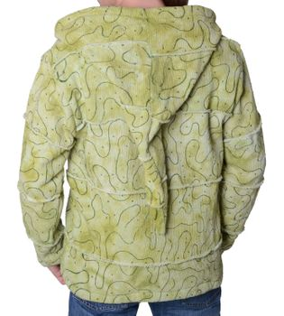Patchwork Goa Mens Jacket with Elfin Hood – Bild 2