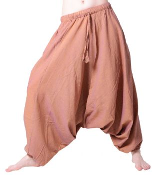 Oriental Harem Pants Goa Psy Aladdin Pants in Orange and Gleaming Purple