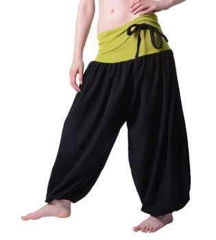 Beautiful Harem Pants with Ribbon Goa Psy Hippie Aladdin Pants – Bild 2