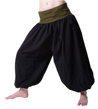 Beautiful Harem Pants with Ribbon Goa Psy Hippie Aladdin Pants – Bild 7