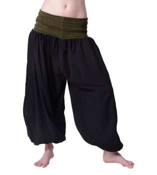 Beautiful Harem Pants with Ribbon and Runic Print Around Waist Goa Psy Hippie Aladdin Pants – Bild 6