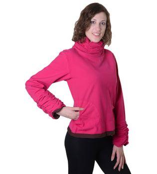Damen Pullover aus Baumwolle im Rollkragen  Rüschen-Look - Hippie Oberteil – Bild 4