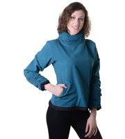 Damen Oberteil aus Baumwolle im hippen Rüschen-Look - Hippie Pullover Überzieher 001