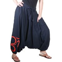 Kunst und Magie Unisex Cotton Harem Pants with OM Symbol 001