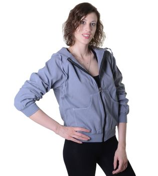 Sweat Jacket Casual with Henley Sleeves Ladies Cotton Jacket – Bild 6