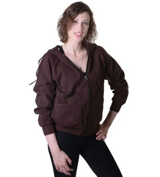 Sweat Jacket Casual with Henley Sleeves Ladies Cotton Jacket – Bild 1