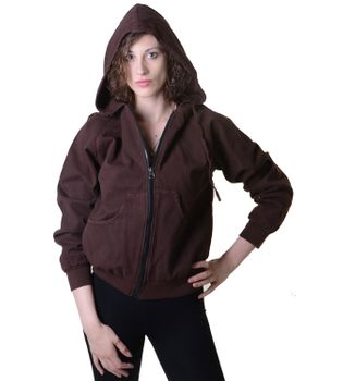 Sweat Jacket Casual with Henley Sleeves Ladies Cotton Jacket – Bild 2