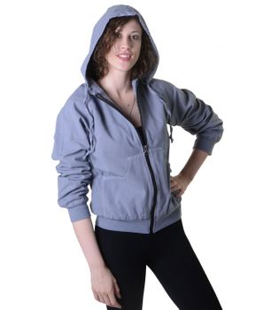 Sweat Jacket Casual with Henley Sleeves Ladies Cotton Jacket – Bild 7