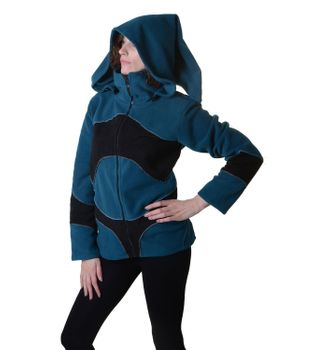 Pretty Fleece Jacket with Fancy Patches and Detachable Elfin Hood – Bild 9