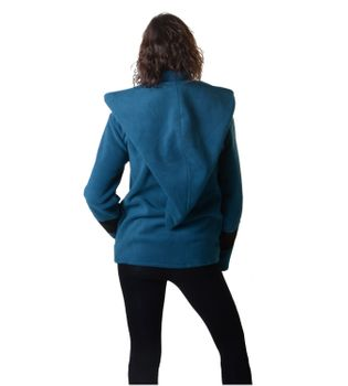 Pretty Fleece Jacket with Fancy Patches and Detachable Elfin Hood – Bild 10
