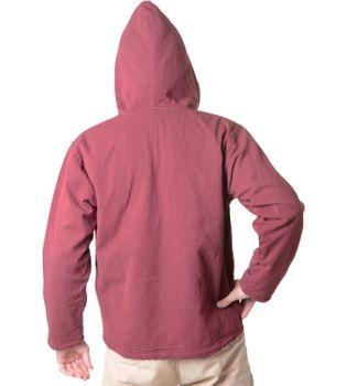 Baumwolljacke mit Fleecefutter und Kapuze - Hippie Jacke mit Reißverschluss – Bild 4