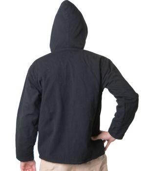 Baumwolljacke mit Fleecefutter und Kapuze - Hippie Jacke mit Reißverschluss – Bild 6